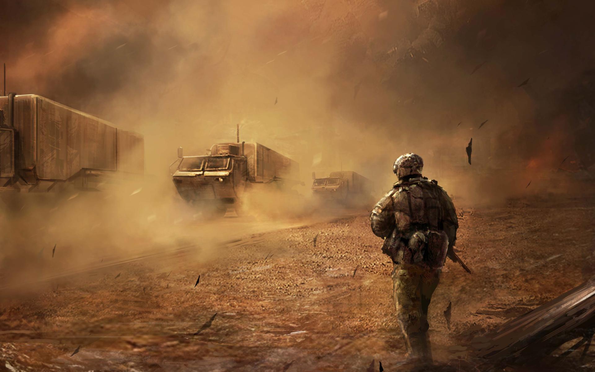 War In Desert Wallpaper For Widescreen Desktop PC