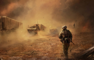 War In Desert Picture for Android, iPhone and iPad