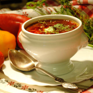 Ukrainian Red Borscht Soup sfondi gratuiti per iPad mini