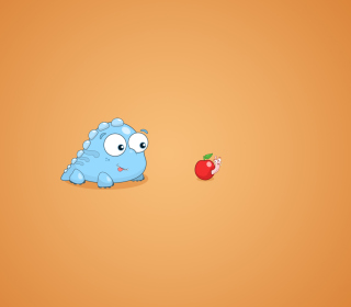 Dragon And Apple Funny Illustration - Fondos de pantalla gratis para iPad mini 2