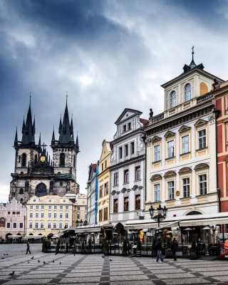 Prague Old Town Square Wallpaper for Nokia Asha 306