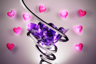 Free Glass Hearts Picture for Android, iPhone and iPad