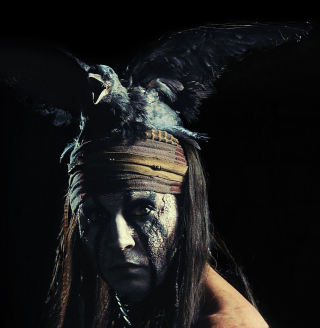 Johnny Depp As Tonto - The Lone Ranger Movie 2013 - Obrázkek zdarma pro 1024x1024