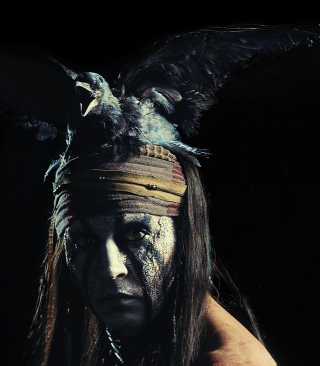 Johnny Depp As Tonto - The Lone Ranger Movie 2013 - Obrázkek zdarma pro Nokia C2-03