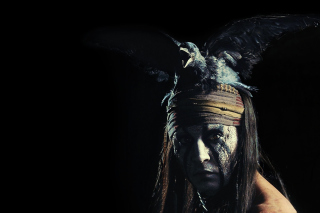 Johnny Depp As Tonto - The Lone Ranger Movie 2013 - Obrázkek zdarma pro 220x176