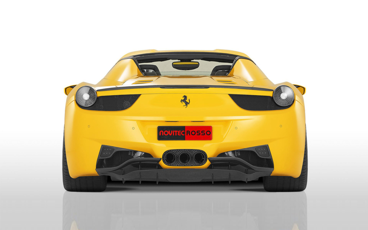 Screenshot №1 pro téma Ferrari 458 Spider from NOVITEC ROSSO 1280x800