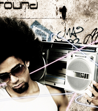 Stylish Guy With Vintage Tape-Recorder Background for Nokia X3-02