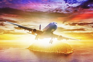 Plane Take off Background for Android, iPhone and iPad