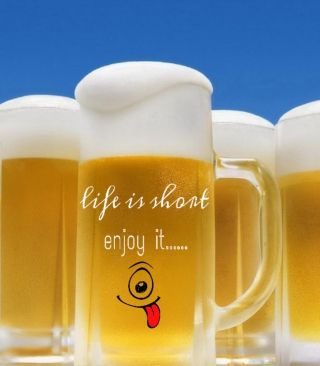 Life is short - enjoy it Wallpaper for Nokia C1-01