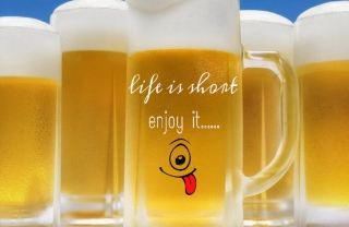 Life is short - enjoy it Wallpaper for Android, iPhone and iPad