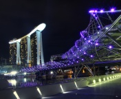 Screenshot №1 pro téma Helix Bridge in Singapore 176x144