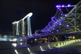 Helix Bridge in Singapore Wallpaper for Widescreen Desktop PC 1920x1080 Full HD