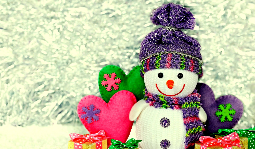 Screenshot №1 pro téma Homemade Snowman with Gifts 1024x600