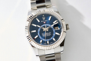 Rolex Sky Dweller Steel Wallpaper for Android, iPhone and iPad