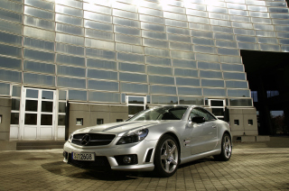 Mercedes Benz SL Class AMG 6.3 Liter V8 Engine sfondi gratuiti per cellulari Android, iPhone, iPad e desktop
