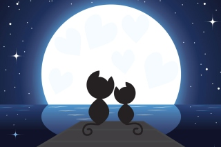 Cats In Love Wallpaper for Android, iPhone and iPad