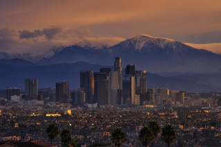 Los Angeles, California Panorama Background for Android, iPhone and iPad