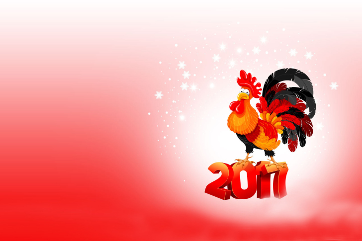 2017 New Year of Cock wallpaper