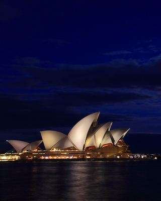 Opera house on Harbour Bridge in Sydney - Obrázkek zdarma pro iPhone 6 Plus