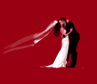 Bride And Groom Hug - Fondos de pantalla gratis para 1024x1024