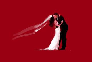 Bride And Groom Hug Wallpaper for Android, iPhone and iPad