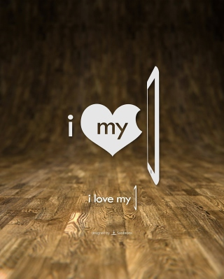 Обои I Love My Phone для телефона и на рабочий стол iPhone 6