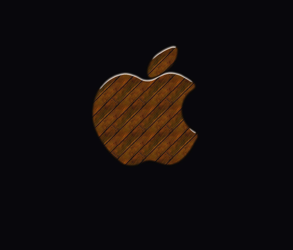 Screenshot №1 pro téma Apple Wooden Logo 1200x1024