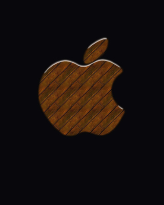 Free Apple Wooden Logo Picture for iPhone 6 Plus