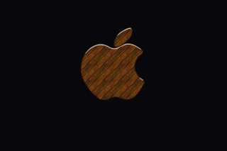 Apple Wooden Logo Background for Android, iPhone and iPad