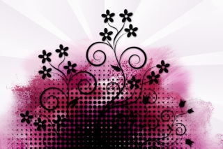 Vector Flowers Background for Android, iPhone and iPad