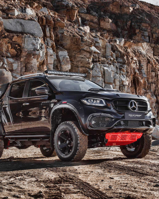 2020 Mercedes Benz X class Tuning Background for Nokia 2720 fold