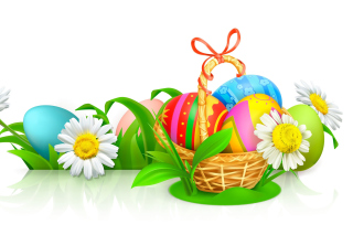 Easter Gift Background for Widescreen Desktop PC 1600x900