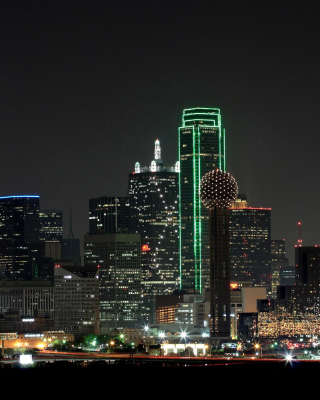 Texas, Dallas Night Skyline sfondi gratuiti per Nokia Lumia 925