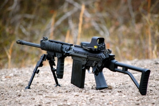 Free FN FAL Semi Automatic Rifle Picture for Desktop 1280x720 HDTV