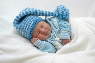Free Happy Baby Sleeping Picture for 220x176