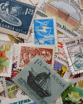 Postage stamp Wallpaper for Nokia Asha 306