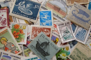 Postage stamp Wallpaper for Android 480x800