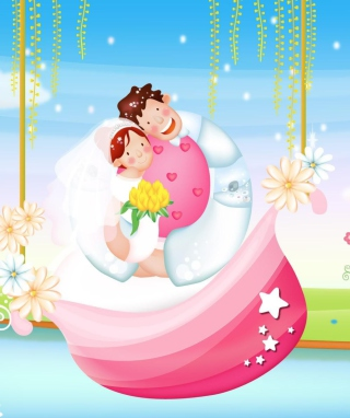 The Couple Love Boat Background for Nokia Asha 202