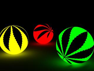 Neon Weed Balls para Nokia Asha 201