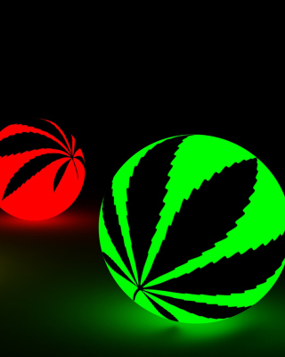 Neon Weed Balls Background for Nokia Asha 306