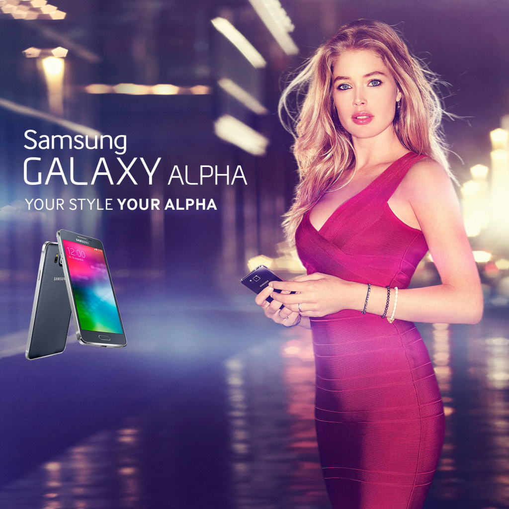 Fondo de pantalla Samsung Galaxy Alpha Advertisement with Doutzen Kroes 1024x1024