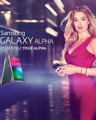 Samsung Galaxy Alpha Advertisement with Doutzen Kroes Background for HTC Titan