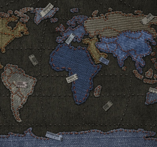 Jeans World Map sfondi gratuiti per iPad mini