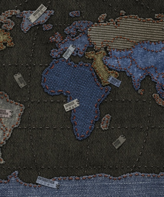 Jeans World Map sfondi gratuiti per 640x960