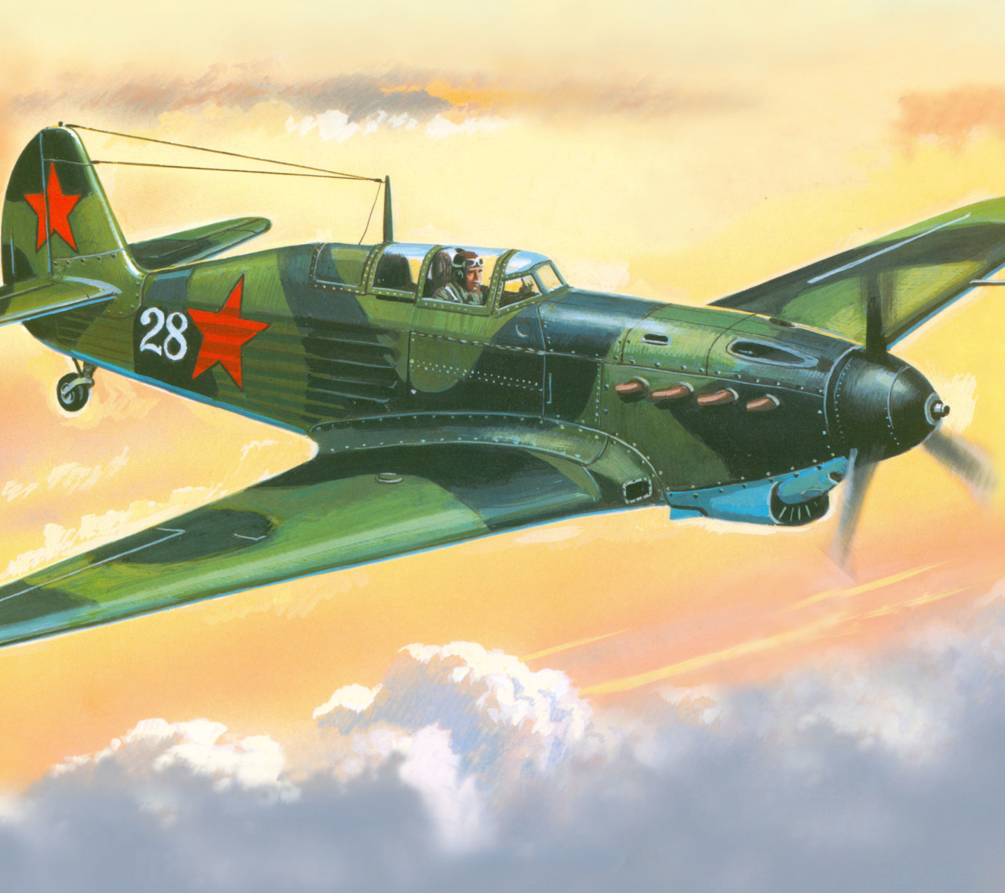 Screenshot №1 pro téma Yakovlev Yak 7 Fighter 1440x1280
