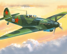 Screenshot №1 pro téma Yakovlev Yak 7 Fighter 220x176
