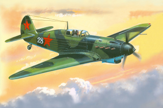 Yakovlev Yak 7 Fighter Background for Android, iPhone and iPad