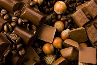 Kostenloses Chocolate, Nuts And Coffee Wallpaper für Android 540x960