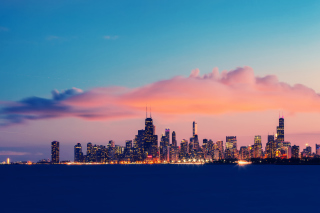 USA Illinois Chicago Lake Michigan Wallpaper for Android, iPhone and iPad