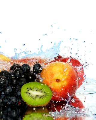 Peaches, bananas and grapes Wallpaper for iPhone 6 Plus